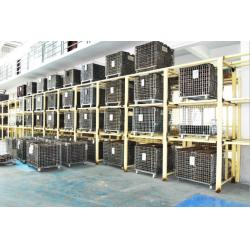 China Folding Stackable Steel Wire Mesh Pallet Cage With Galvanized Surface Treatment on sale