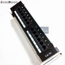 China RJ45 Ethernet 12Port Patch Panel Cat5e UTP Wall Mount 12Port Patch panel Category 5e Pach Panels on sale
