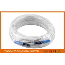 China 100 Meters Fiber Optic Patch Cord SC / SC SM SX Patch Cord FTTH Drop Cable on sale