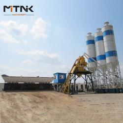 China Small Capacity HZS35 Bucket Skip Cement Batching Plant on sale