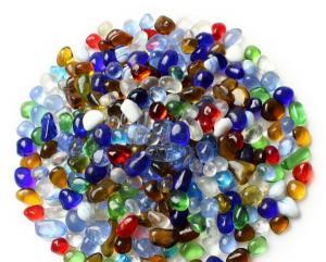 Gravilla de vidrio multicolor, bonita y barata, tamaño 5,9mm