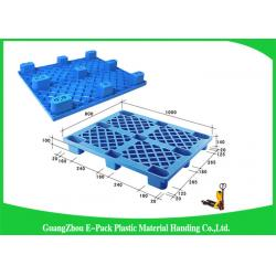 China Single Faced Plastic Export Pallets , 3 Skids Industrial Plastic Pallets For Food Industry on sale