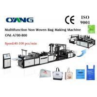 Automatic ECO Friendly PP Non Woven Fabric Bag Making Machine Ultrasonic Welding