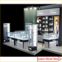 Customized high quality commercial jewelry trade show booth display Kiosk with led spot lights