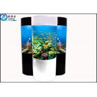 Cylindrical Acrylic Aquarium Custom Fish Tanks With Super Translucent Material