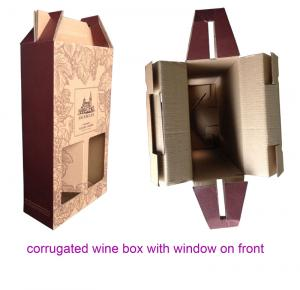 Corrugated Cardboard Wine Packaging Boxes for Sale, Cardboard ...