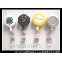 Solid custom printed retractable reel, ID badge reel with clear dome logo