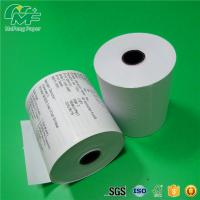 Dust Free Credit Card Terminal Paper Rolls High Performance Nontoxic Tight Rolling