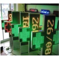 IP65 P20 3D Outdoor Dual Color Led Pharmacy Display Signs with 1000 * 1000 mm Size