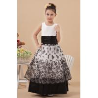 Ladylike A Line Satin Organza Unique Flower Girl Dresses for Wedding Party