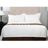 Sateen 100% Cotton Luxury Hotel Bedding Sets 220TC Plain White Single Size or Double Size