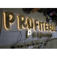 Stainless Steel Back Lit LED Channel Letters With Hight Bright Lighting