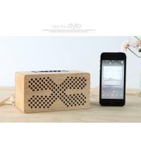 Insert Card Natural Wood Speakers 10M Working Range Bluetooth Audio Speaker