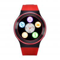 Red Smart Bluetooth Watch Phone For Adult / Gps Tracking Touch Screen Watch