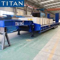 TITAN 4 axles 60/80 tons machine carrier low platform excavator trailer for sale