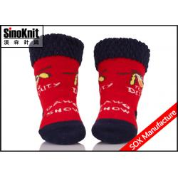 China Soft Tube Red Infant Socks Warm Newborn Baby Socks with Organic Cotton on sale