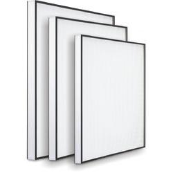 China Aluminum frame high temperature fiberglass filter media hepa air filter for air purification systems on sale