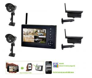 Outdoor Home Wireless Surveillance Camera Systems , 4CH CCTV NVR Security Camera