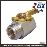 Cast NPT Full Port Private Label on Handle Ppr Ball Valve With Brass Ball