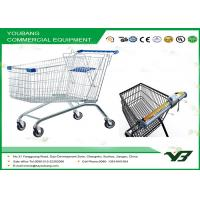 European Style Supermarket personal shopping cart with wheels , Large Capacity