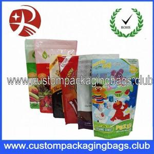 Custom Stand Up Zipper Plastic Food Packaging Bags For Snack , Tea , Seeds , Coffee Beans