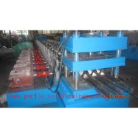 PLC Control Crash Barrie Guardrail Roll Forming Machine , Highway Guardrail Making Line