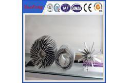 中国 産業 al6063 t5 のアルミニウム放出脱熱器は冷却ひれの製造業者の側面図を描きます 製造者