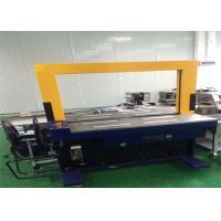 Automatic Corrugated Box Bander Machine / Blue Corrugated Carton Strapping Machine