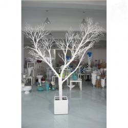 China White Decoration Tree Branch Coral Artificial Tree Trunk on sale