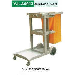 China Housekeeping Cart Janitor Trolley Janitorial Carts Janitorial Trolleys on sale
