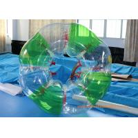 Colorful stripe  Inflatable Bumper Ball Football Sports , Bubble Soccer Ball With  CE