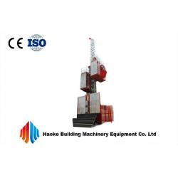 China Painted Construction Hoist Elevator , Single / Twin Cage Construction Material Hoist on sale