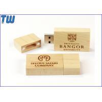Big Block Thumb Drive Natural Wood Bamboo Material Magnet Connected