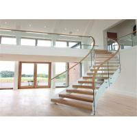 Steady Structure Building Curved Stairs , Contemporary Wooden Spiral Staircase