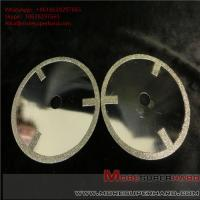 Electroplated diamond cutting discs have very sharp cutting performance and generate minimum heat