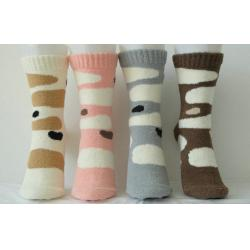 China Warm Cashmere Knitted Ladies Cashmere Socks on sale
