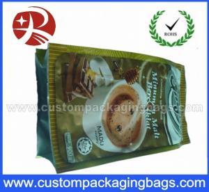 Plastic Foil Side Gusset Coffee Packaging / coffee bean bags Waterproof