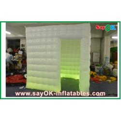 China Oxford Cloth Inflatable Custom Inflatable Products , White Wedding Mobile Square Photo Booth on sale