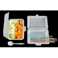 biodegradable corn starch food container,Airline new nature 900ml biodegradable corn starch food container with lid pac