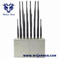 Desktop Mobile Phone Signal Jammer 14 Band VHF UHF Radio For Library