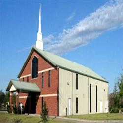 China Modern Design Steel structure Church Building with Low Cost and large space on sale