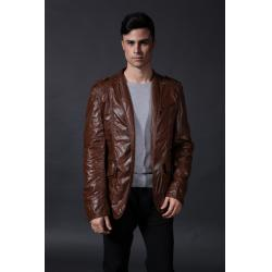 China Custom Colors 100%Viscose Mens Leather Suits With OEM Service For Adults on sale