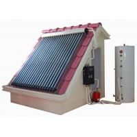 Split high pressure solar water heating system with heat pipe solar thermal collectors , hot water storage tank and kits