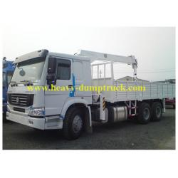 China Sinotruk howo truck mounted lorry crane 6x4 Right hand drive with warranty and spare parts on sale