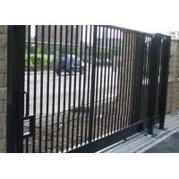 Durable Motorised Metal Sliding Gates Powder Coated For Wall Compound