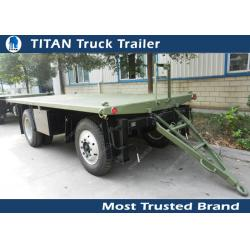 China High strength low alloy steel draw bar trailer with 1 axles , 2 axles , 3 axles optional on sale