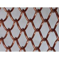 Metal Decorative Wire Mesh Curtain Antique Brass Color For Room Divider