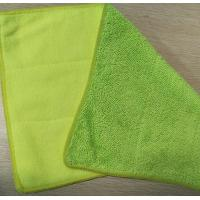Microfiber  25*35cm 480gsm Green Twisted Recombination Terry Fabric No Resistance Dust Mop