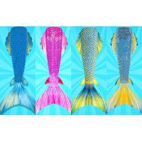 Flexible Ladies Mermaid Tail , Mermaid Tail Swimsuit Adult With Side Fins