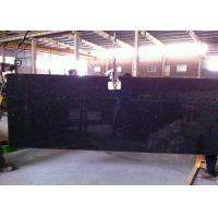 Black Galaxy Granite Island Top / Granite Kitchen Tops With Sparkles 2 CM Thick